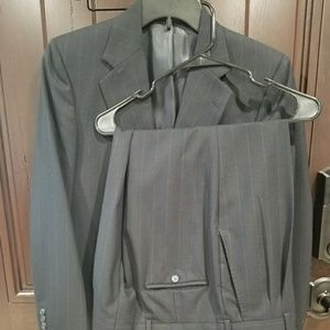 Burberry Prorsum Mens Black Wool Two Button Suit